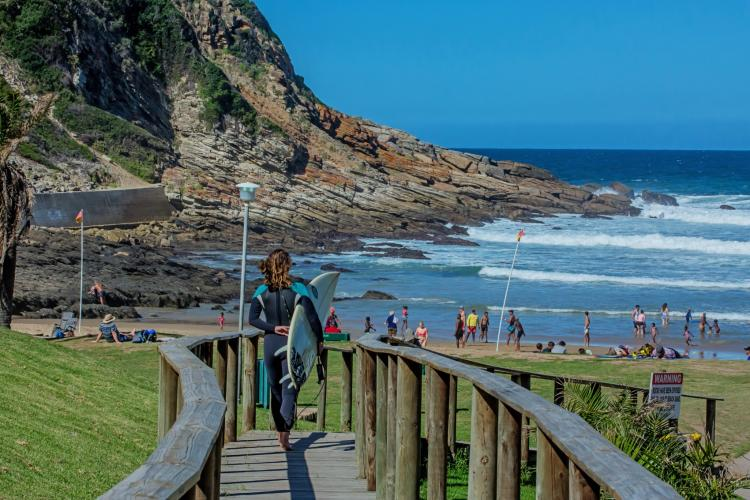 Victoria Bay will be a hive activity as swimmers and surfers flock to this popular beach this summer. Photograph: Melanie Mare